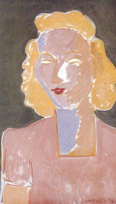 Jeune femme en rose - 1942
