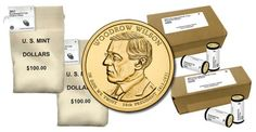 Woodrow Wilson Presidential $1 Coins in Rolls, Bags and Boxes