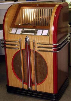 - 1936-1938 AMI Rowe Model Top Flite Jukebox - #music #jukebox #records #vinyl #audio #vintage #ami http://www.pinterest.com/TheHitman14/the-jukebox/