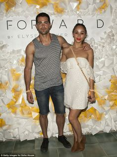 Jesse Metcalfe and fiance Cara Santana