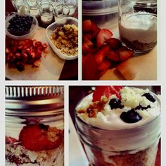 Desert in jars. I made them for a dinner party and they were a smash hit!!