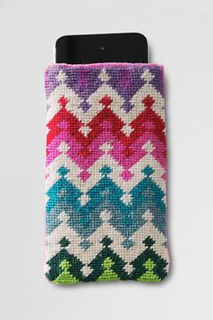 Gifts Under $30: Needlepoint iPhone/iPod Case from Lands' End - $24.50 #wishpinwin