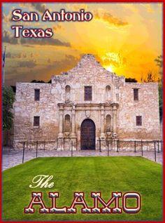 San-Antonio-The-Alamo-Texas-United-States-Travel-Advertisement-Poster