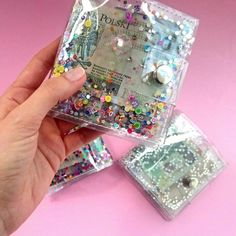 Travel wallet with glitters, sequins and more :-)