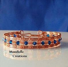 Flamenco I Wire Weave Bracelet by MaxxBelleCreations on Etsy