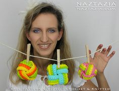 Learn How To Crochet and Knit - Chinese Knot Inspired Twisted Scrubbies with YouTube Video by Naztazia