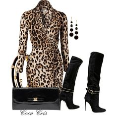 Leopard Print Outfits, Animal Print Outfits, Leopard Fashion, Animal Print Fashion, Classy Outfits, Chic Outfits, Fashion Outfits, Womens Fashion, Capsule Wardrobe Women