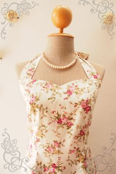 FLORAL DRESS Rustic Wedding Tea Dress Summer Dress by Amordress