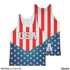 USA Flag All-Over Printed Unisex Tank | To SAVE a lot just enter the Discount Code at checkout! >>> It's right under the menu on each product page!
