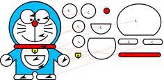 Patrón de fieltro de Doraemon para imprimir