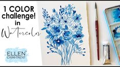 1 WATERCOLOR CHALLENGE! Your Paintings, Watercolor Paintings, Floral Paintings, Watercolor Ideas, Watercolour Challenge, Tip Jars, Sales And Marketing, Acrylic Art, Artist At Work