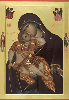 Παναγία Γλυκοφιλούσα / Theotokos Glykophilusa. Byzantine Icons, Byzantine Art, Religious Icons, Religious Art, Mother Mary, Mother And Child, Images Of Mary, Queen Of Heaven, Orthodox Christianity