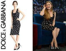 Amy Adams' Dolce & Gabbana Rose Print Ruched Dress
