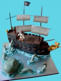 Amazing Pirate + Octopus Cake