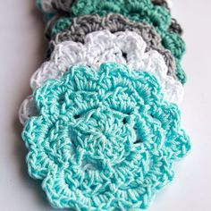 Wondering how to crochet a coaster? This easy crochet pattern with a step-by-step photo tutorial makes it a great crochet coaster pattern for beginners.