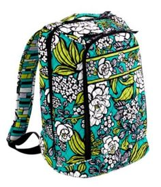 Vera Bradley backpack in Island Dreams-my personal favorite. Stands up at school and DECA conferences!