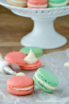 Candy Cane Macarons | Mother Thyme