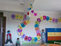 arabic letters on a classroom wall