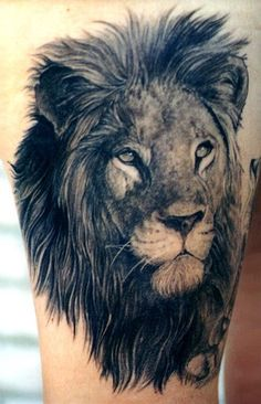 Lion tattoo, aka leo tattoo, is one of the most popular among animal tattoos. People love lion tattoos not only for its cool appearance but also for its Lion Shoulder Tattoo, Lion Arm Tattoo, Neck Tatto, Mens Lion Tattoo, Lion Tattoo Design, Tattoo Motive, Tattoo Designs, Tatto Man, Lioness Tattoo