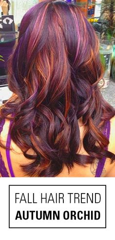One of the best fall hair colors of 2015! Autumn Orchid is an amazing blend of burgundy hair color, copper and violet hues for a look that screams fallayage!                                                                                                                                                                                 More