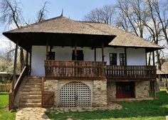 "Traditional houses in rural Romania (case traditionale romanesti) *** Upon arriving in her new home country in the young wife of Prince Carl of Romania noticed in her writings: ""Every R… Village House Design, Village Houses, Best Modern House Design, Rural House, Traditional House, Old Houses, Planer, Design Case, Architecture Design"