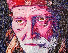 """Check out new work on my @Behance portfolio: """"Upcycled Willie"""" http://on.be.net/1FfHECP #willienelson #recycledart #upcycled #popart #collage #portrait"""