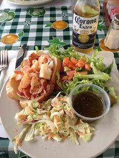 Lobster roll in Montauk