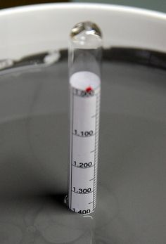 measuring specific gravity of the glaze