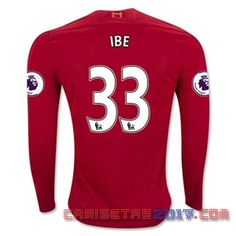 Camiseta manga larga Ibe Liverpool 2016 2017 primera
