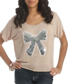 Wet Seal, $19.50 | Bubble Bottom Bow Top: Cute!:)