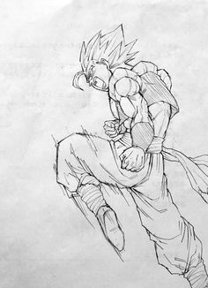 Easy Draw : - Art & Drawing Community : Explore & Discover the best and the most inspiring Art & Drawings ideas & trends from all around the world Goku Drawing, Ball Drawing, Manga Drawing, Anime Drawings Sketches, Art Drawings, Mordecai Y Rigby, Dragonball Art, Vegito Y Gogeta, Chica Anime Manga
