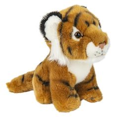 WHAT'S INCLUDED: From a realistic design and distinctive facial markings, this posed Tiger is simply irresistible! This plush Tiger is huggable, hand-washable, soft, shed-free and made from high quality acrylic, polyester and stitching to ensure added safety!  	 DIMENSIONS: Measuring at 7 inches, our adorable Tiger stuffed animals are comfortable and soft to the touch! The perfect size for at home and take on the go play!  	 MULTI-PURPOSE: Expand your child's interest in wildlife studies and…