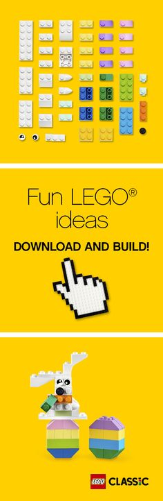 Are you planning an egg hunt with the family? Here's a great alternative everyone can have fun building! http://www.lego.com/en-gb/classic/seasonal-builds