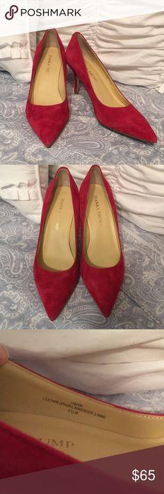 Ivanka Trump Red Suede Heels Ivanka Trump Red Suede Pointed Heels. Excellent condition, worn once. Ivanka Trump Shoes Heels