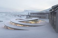 Designed by architects Bjarke Ingels (BIG), La Maison des Fondateurs will house a new museum for Swiss watch manufacturer Audemars Piguet. Functional yet sculptural, the overlapping spiral structure lets in natural light and frames the panoramic views of the valley whilst blending seamlessly into the landscape.