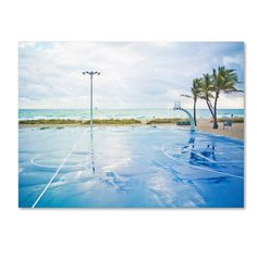 'Basketball by the Beach' by Preston Photographic Print on Wrapped Canvas