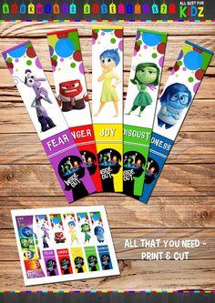 Disney Inside Out  Bookmarks Birthday Party от AllBestForKidz