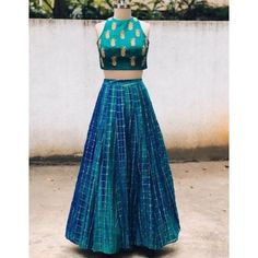 💃💓💖Get ready for your upcoming party in this lehenga choli set priced just Rs Half Saree Designs, Choli Designs, Lehenga Designs, Saree Blouse Designs, Silk Kurti Designs, Lehenga Crop Top, Lehenga Blouse, Silk Lehenga, Blue Lehenga