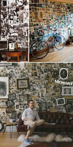 photowall, mur photos, pared fotos