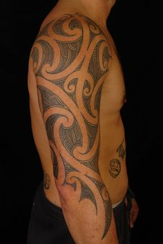 SHANE+TATTOOS:+Maori+3/4+Sleeve+on+Shane