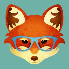 Hipster Fox Art Print by Compassion Collective