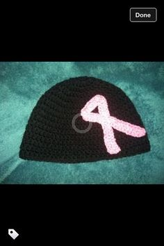 Items similar to Crochet Breast Cancer Hat on Etsy 2c14fb509
