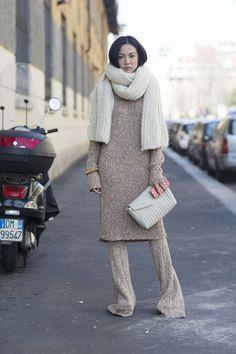 YoYo Cao, Street Style at Autumn Winter 2015, Milan Fashion Week