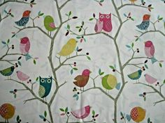 """HARLEQUIN FABRIC """"WHAT A HOOT"""" 90 X 145 CM COTTON Fabric Blinds, Curtains With Blinds, Harlequin Fabrics, Jojo Bows, Disney Fabric, Fabric Remnants, Harry Potter Hogwarts, Kids Prints, Lampshades"""