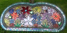 Stained Glass Flower Mosaic on Reclaimed mirror by ReclaimedMosaics, $500.00