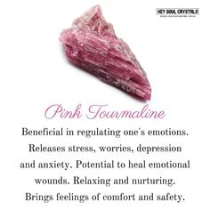 Pink Tourmaline Meaning... Think I need this one
