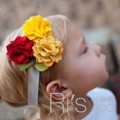 Handmade Flower Felt Headband