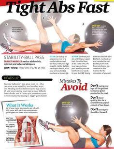 Home exercise ball workout