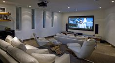 It includes a built-in home theatre.  (McClean Design)