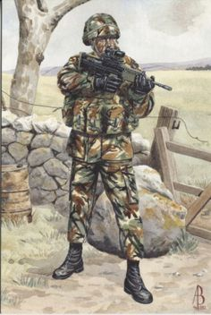 Alix Baker Postcard - AB29/1 Private, 1st Battalion, The Royal Anglian Regiment, Northern Ireland 1993